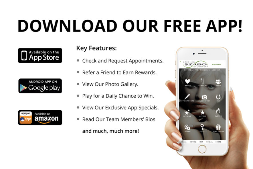 Download Szabo Salon App Homepage Slider